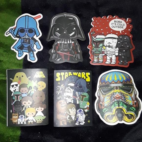 6 Star Wars Sticker Lot ☆New☆